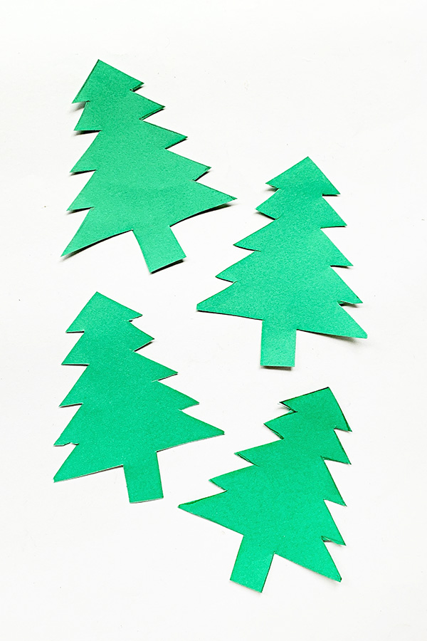 3D Christmas Tree Paper Craft Tutorial