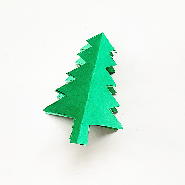 3D Paper Christmas Tree for Kids