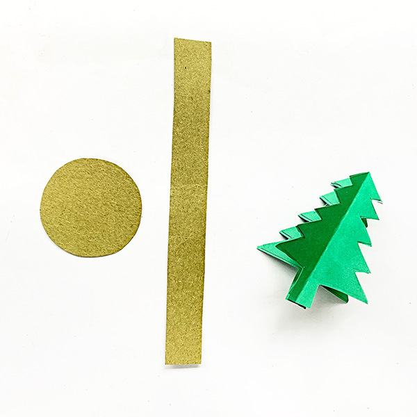 3D Christmas Tree Paper Craft for Kids