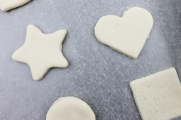 Making salt dough Christmas ornaments