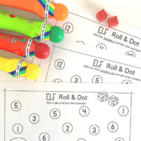 Christmas Elf Roll and Dot Math Game