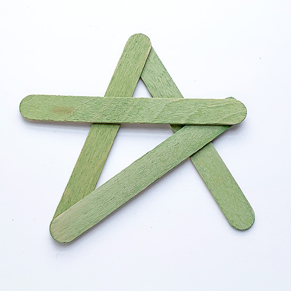 Simple Christmas star ornament