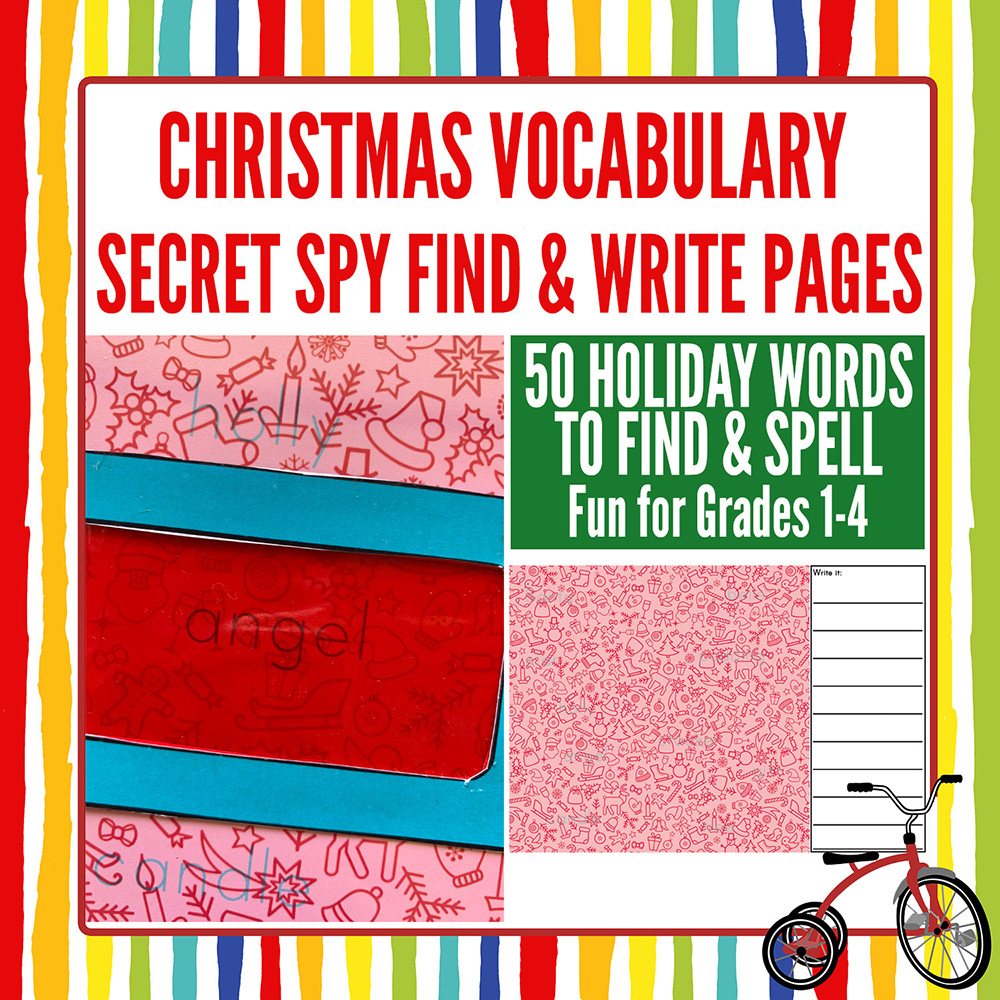 Christmas Look and Find Spelling and Vocabulary