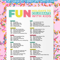 Fun Celebrations Calendar Printable