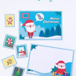 Printable Letter to Santa postcards