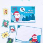 Printable Letter to Santa postcards