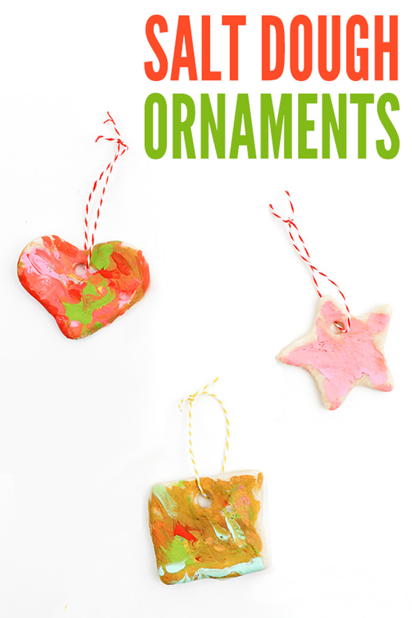 Salt dough ornaments recipe and tutorial