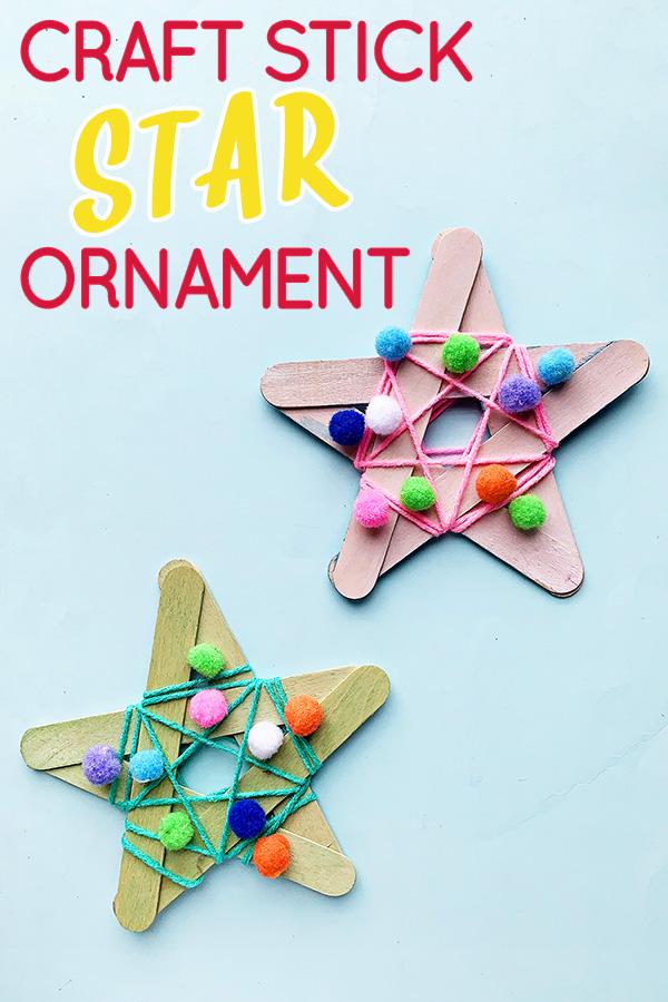 Simple star ornament kids tutorial