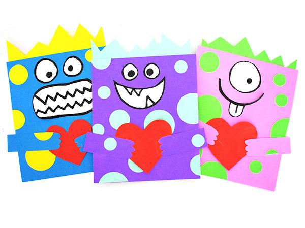 Valentine Love Monster Craft for school age kids