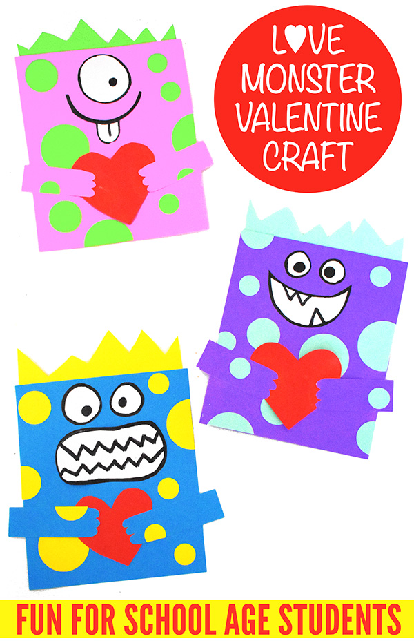 Valentine Love Monster Craft for school age students