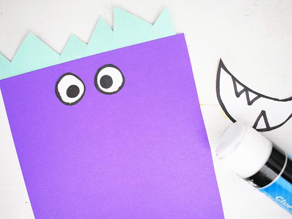 Love Monster Card Valentine tutorial