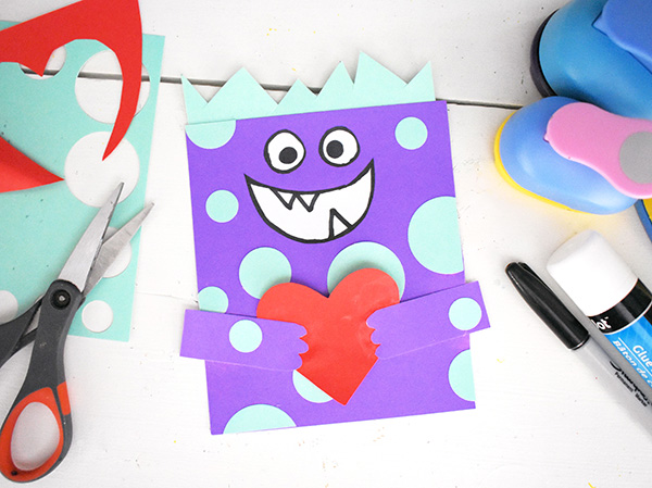 DIY Love Monster Valentine Card