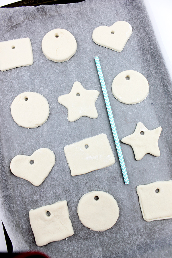 Salt dough ornament tutorial for kids