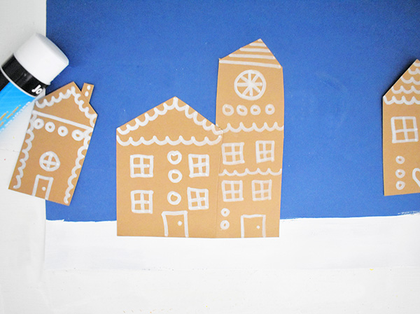 Christmas Village Art Project for School Age Kids
