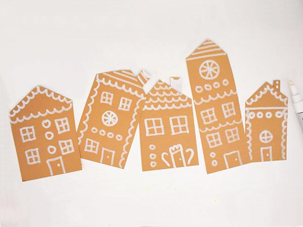 Christmas Village Art for Kids