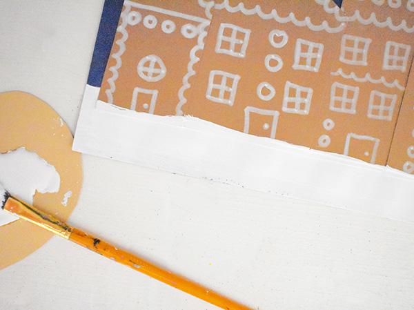 Kids Christmas Village Art