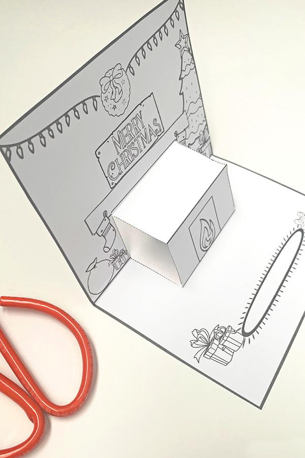 Christmas Mantlepiece Pop Up Card