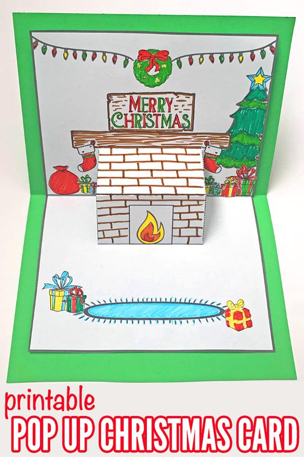 Christmas Pop Up Card Printable