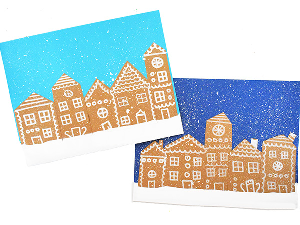 Christmas village art project