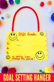 Goal Setting Hanger Craft Acitivity