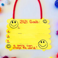 Goal Setting Hanger Craft Acitivity