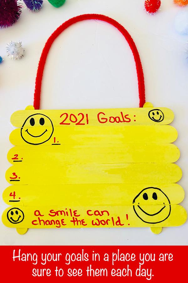 Goal Setting Hanger Craft Activity