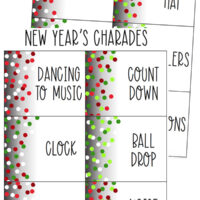 New Years Charades for Families