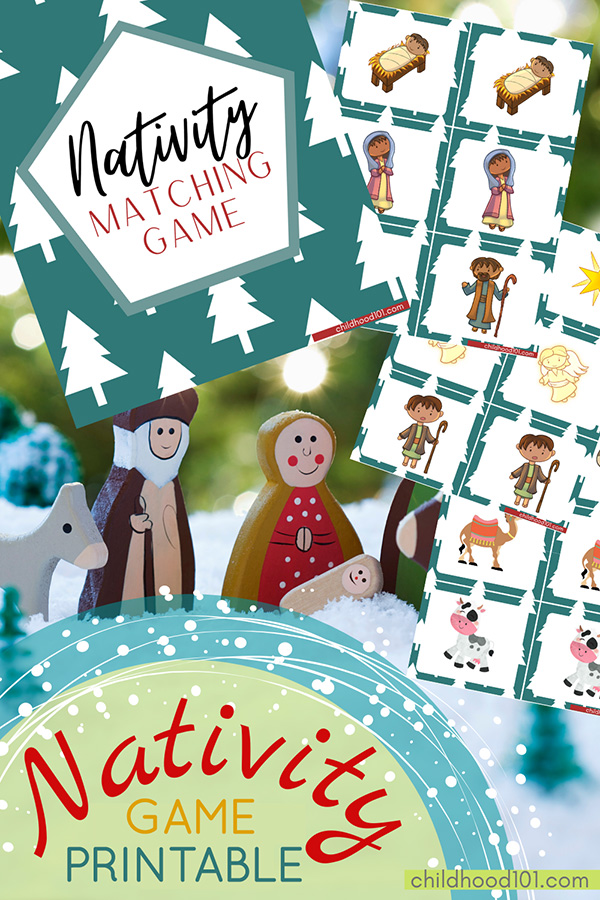 Printable Christmas Nativity Matching Game