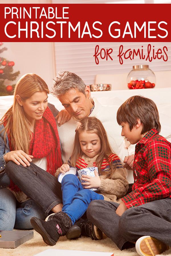 Printable Family Christmas Games