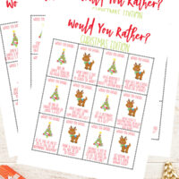 Printable Would You Rather Christmas game