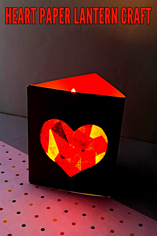 Heart lantern craft for elementary school