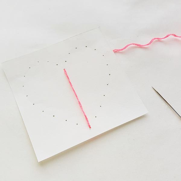 Heart string art card tutorial for tweens