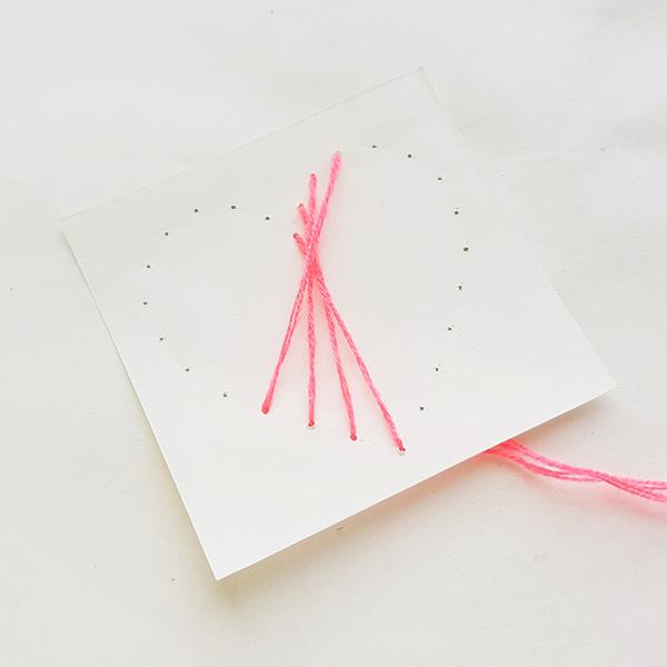 Valentines heart string art card