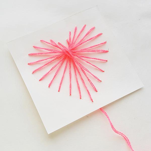 Valentines string art card