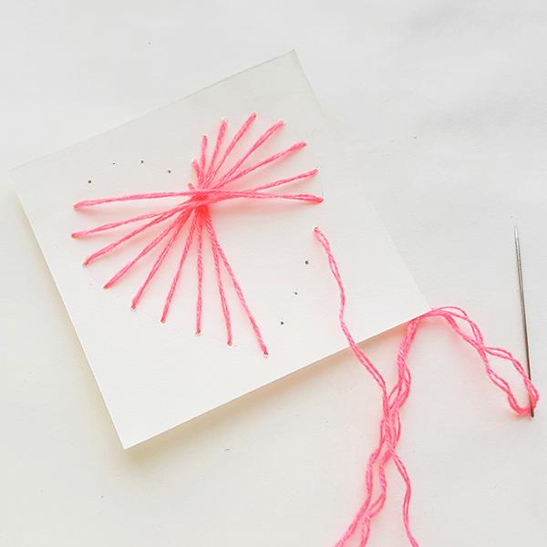 Valentines string art heart card
