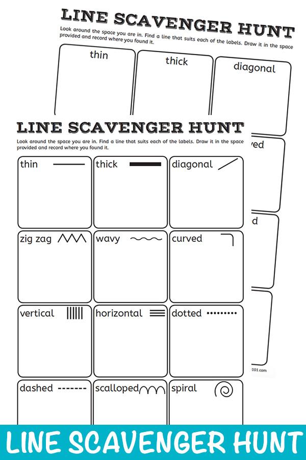 Line Scavenger Hunt Visual Art Activity