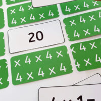 Multiplication memory matching game printable
