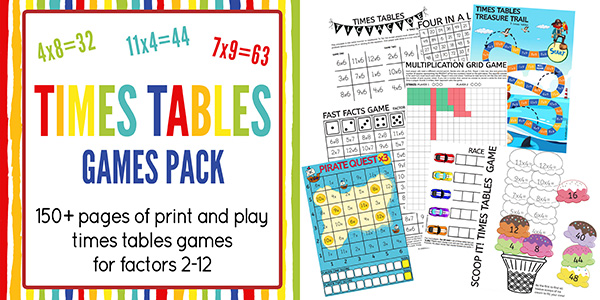 Times Tables Games Printable Pack
