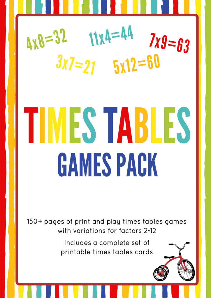 Printable multiplication games for kids