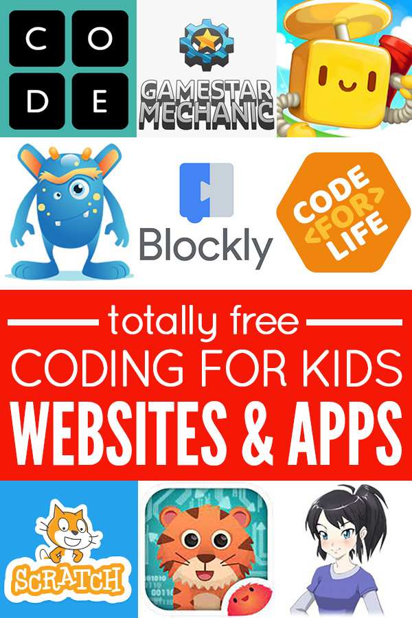 Free coding for kids websites and apps