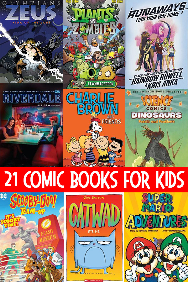 Comic books for kids ages 6-13 years