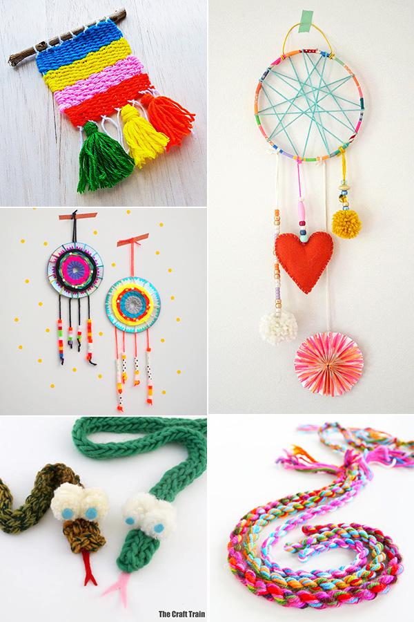 Tween crafts with yarn