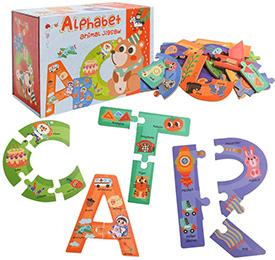 Alphabet Letter Construction Puzzles
