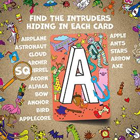 Find the Intruder Alphabet Game
