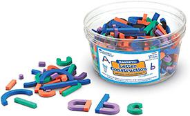 Magnetic alphabet construction set