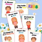 Printable Spring Yoga Cards