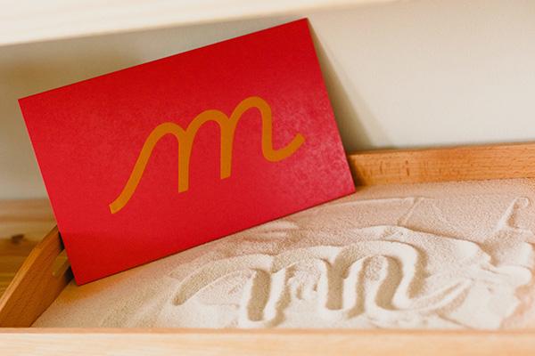 Sandpaper letters for sensory writing