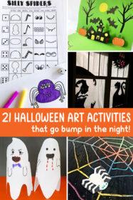 21 Halloween Art Activities for Kids