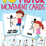 Gross motor movement for kids activity cards